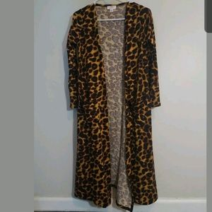 Lularoe Sarah Cheetah Animal Print Long Cardigan